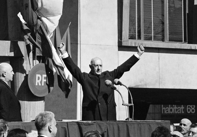 De Gaulle Lyon 1968